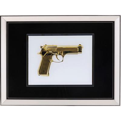 Cuadro Mirror Gun 80x60cm oro