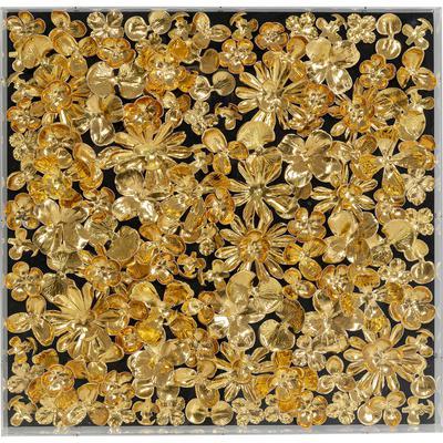Marco decorativo oro Flower 60x60cm