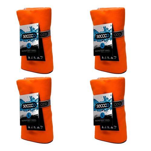 SetX 4 Toallas de Microfibra Naranja L