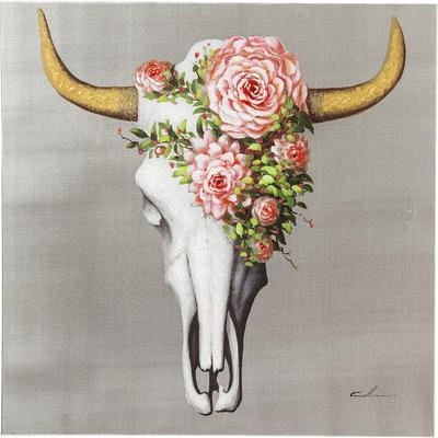 Cuadro  Flower Skull 80x80cm