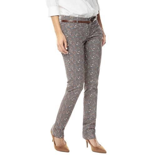 Pantalon Para Mujer Color Siete  - Cafe