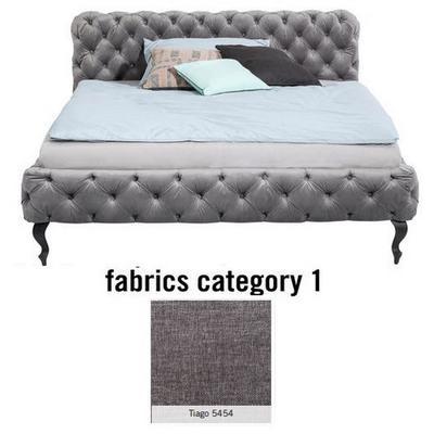 Cama Desire, tela 1 - Tiago   5454, (100x157x228cms), 140x200cm (no incluye colchón)