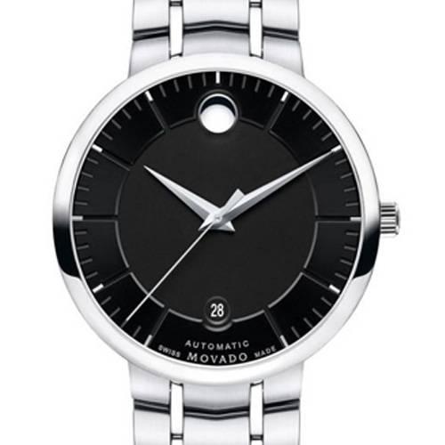 Reloj análogo negro-plateado 6914