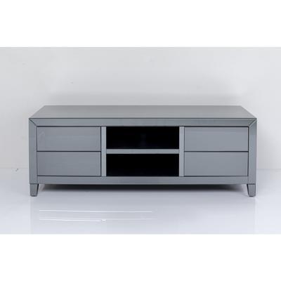 Cómoda baja Luxury Push gris 140x50cm