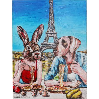 Cuadro Animal Pair Paris 80x60cm