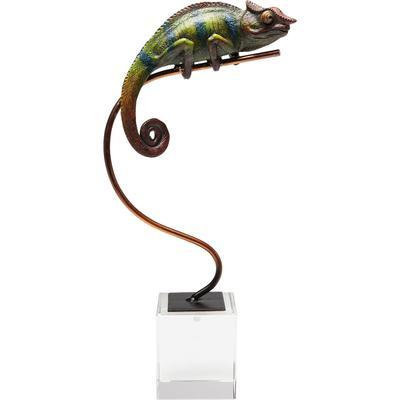 Objeto decorativo Chameleon verde