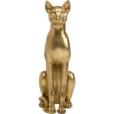 Objeto decorativo Sitting Cat oro 74cm