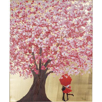 Cuadro Flower Couple oro rosa 100x80cm