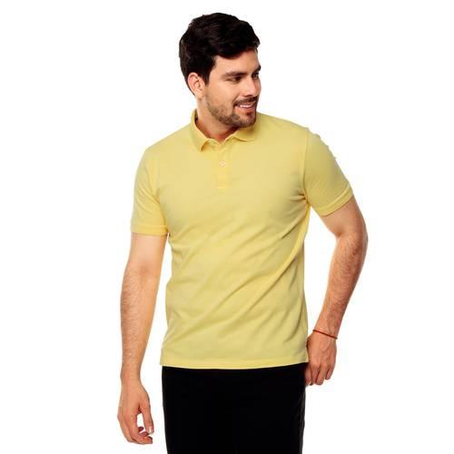 Polo Color Siete Para Hombre  - Amarillo