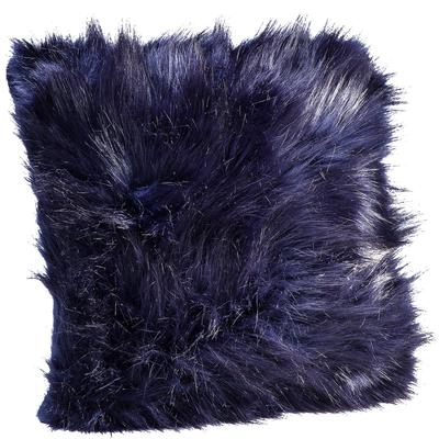 Cojines Ontario Fur negro 45x45cm