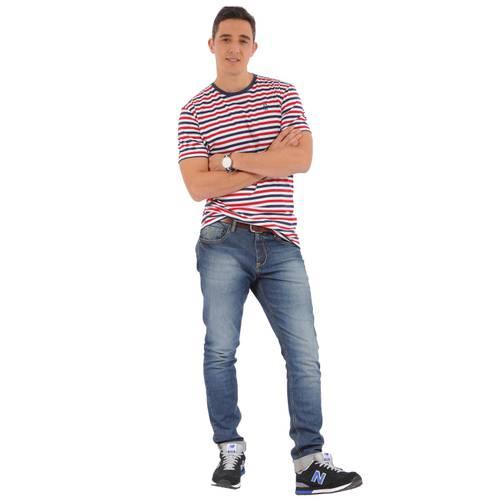Camiseta Cuello Redondo Jack Supplies para Hombre- Azul