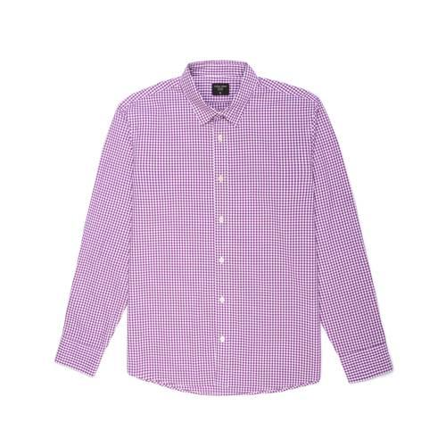 Camisa Cuadros Manga Larga - Morado