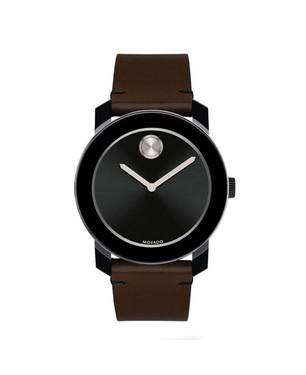 Reloj análogo negro-marrón 0443