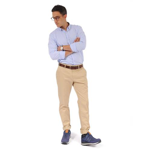 Pantalón Chelsea Color Siete Para Hombre  - Beige