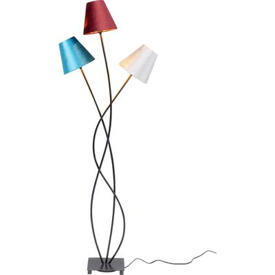 Lámpara pie Flexible Velvet negro Tre