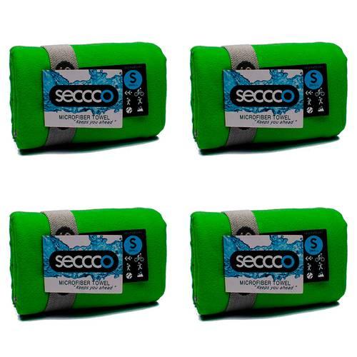 SetX 4 Toallas de Microfibra Verde S