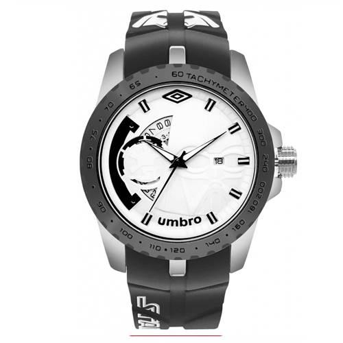 Reloj Análogo Plateado-Negro Umb-Sw02-4