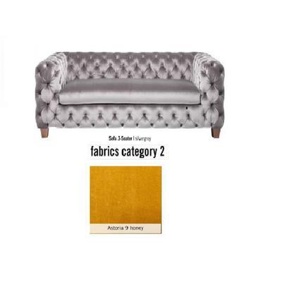 Sofá, 3 puestos, My Desire, tela 2 - Astoria 9 honey  (245x68x100cms)