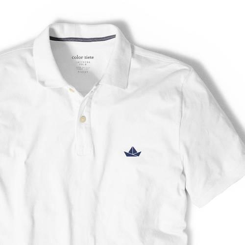 Polo Color Siete Para Hombre Blanco - Barco de Papel