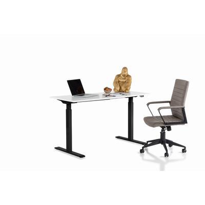 Escritorio Office Smart negro blanco 140x60