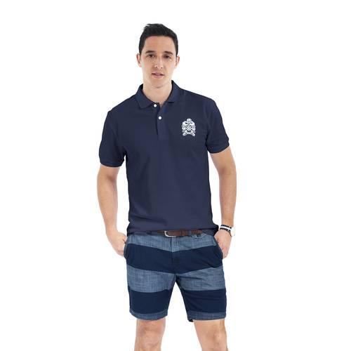 Polo Color Siete para Hombre Azul - Oliva