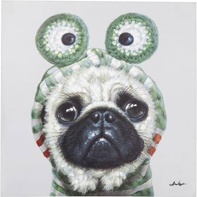 Cuadro Frog Dog 70x70cm