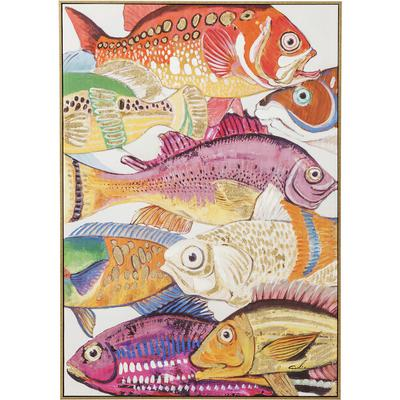 Cuadro  Fish Meeting One 100x75cm
