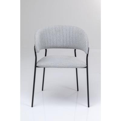 Chair with Armrest Belle Grey (2/Set)