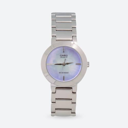 Reloj análogo azul-plateado A_2C
