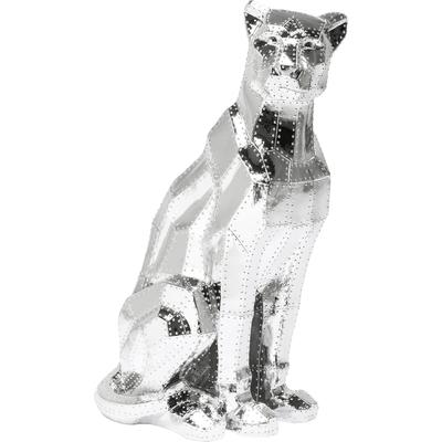 Figura decorativa Sitting Cat Rivet cromo