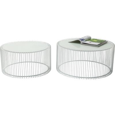 Mesa centro Wire blanco (2/set)