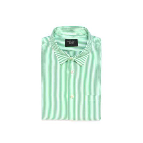 Camisa Estampada Rayas  - Verde