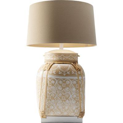 Lámpara mesa Basket crema