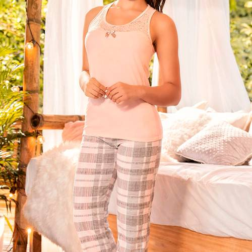 Pijama Palo Rosa - 11134