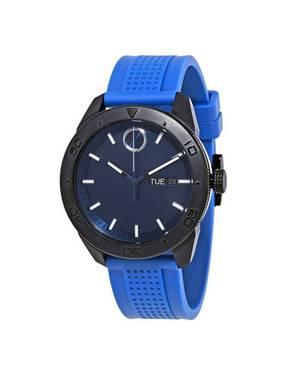 Reloj análogo azul-azul 0459