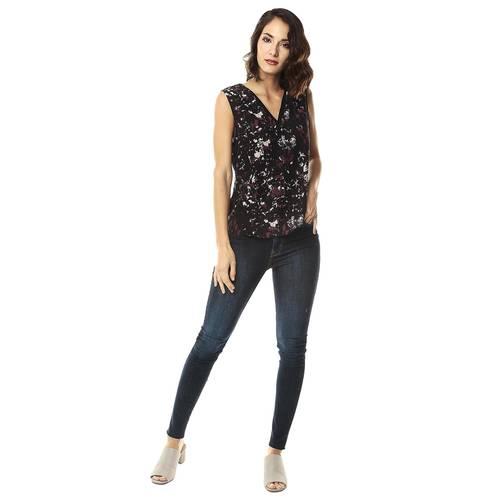 Blusa Estampada Color Siete Para Mujer - Negro