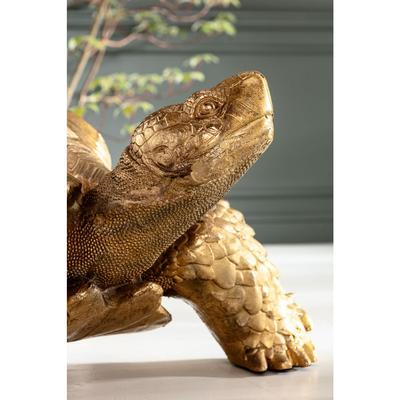 Figura decorativa Turtle oro grande