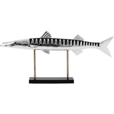 Objeto decorativo Fish cromo