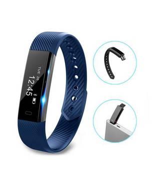 Smartband Id115 Bluetooth Deportivo Waterproof Sah018 Azul - BEDATA