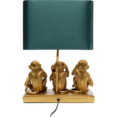 Lámpara mesa Animal Three Monkey oro 44cm