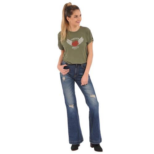 Camiseta Sadie Rosé Pistol para Mujer  - Verde