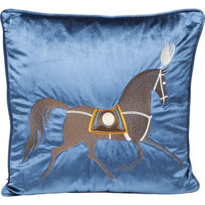 Cojín Classy Horse azul 45x45cm