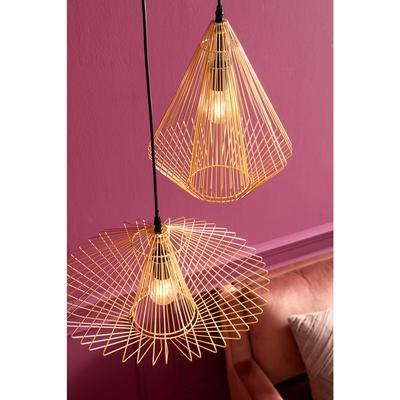 Lámpara Modo Wire redondo oro