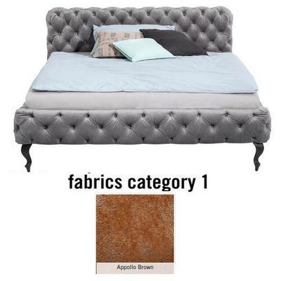Cama Desire, tela 1 - Appollo Brown, (100x177x228cms), 160x200cm (no incluye colchón)