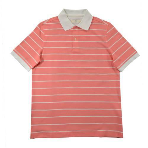 Camiseta Polo Nal Rayas Pique 540-86 Rosado