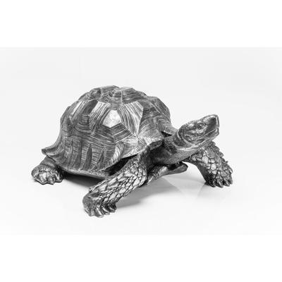 Figura decorativa Turtle plata grande