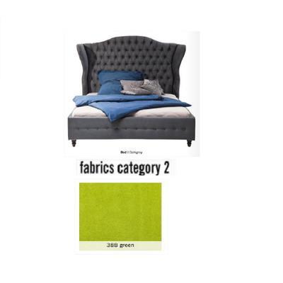 Cama City Spirit, tela 2 - 388 green,  (120x156x260cms), 160x200cm (no incluye colchón)