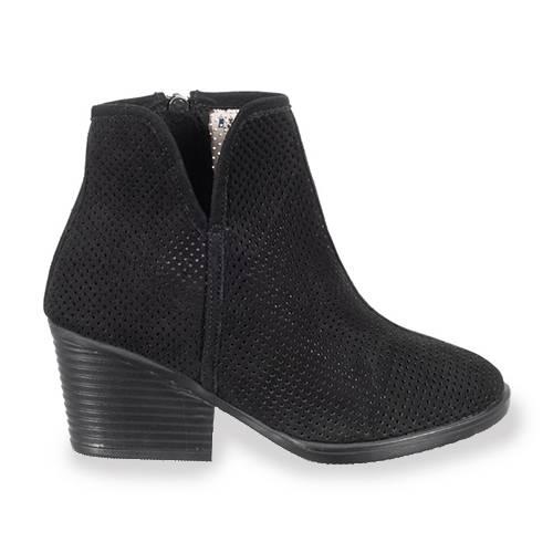 Botin Cage Shoes En Cuero Negro