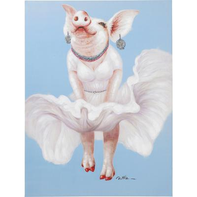 Cuadro Pig Diva 120x90cm