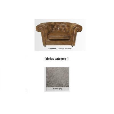 Poltrona Cambridge, tela 1 - Kansas Grey (115x76x92cms)